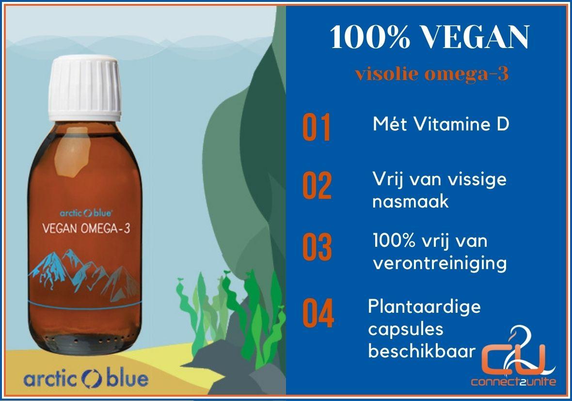 Arctic Blue biedt omega-3 visolie supplement Vegan aan