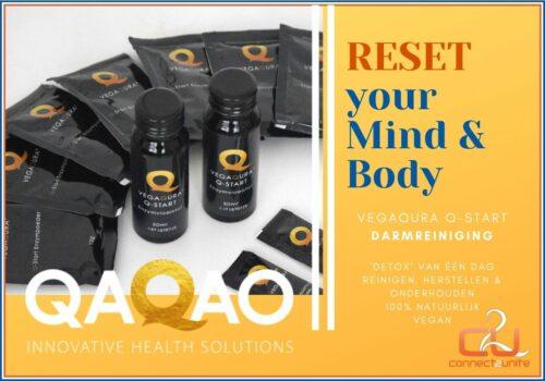 De detox darmreiniging van vegaqura in één dag is een reset voor lichaam en geest