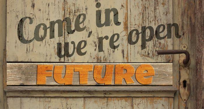 Deur naar toekomst is open_ongelukkig zijn zonder reden bestaat niet